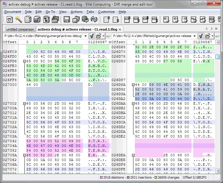 C compare binary